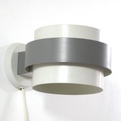 Grey fifties Louis Kalff Philips vintage metal wall lamp