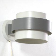 Grey fifties Louis Kalff Philips vintage metal wall lamp