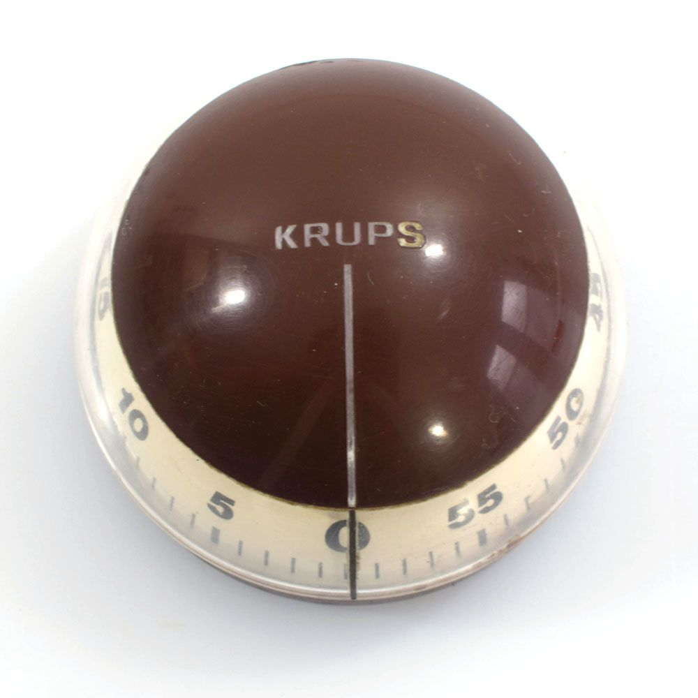 Vintage KRUPS cooking timer. Dimensions: diameter 6 cm, height 4,5 cm.