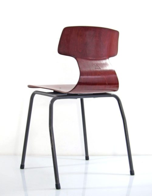 Plywood vintage design stackable chairs