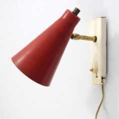 Red Sixties vintage metal adjustable spot