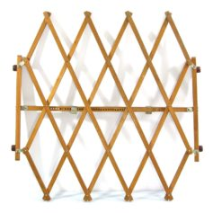 Sixties adjustable wooden vintage pet gate