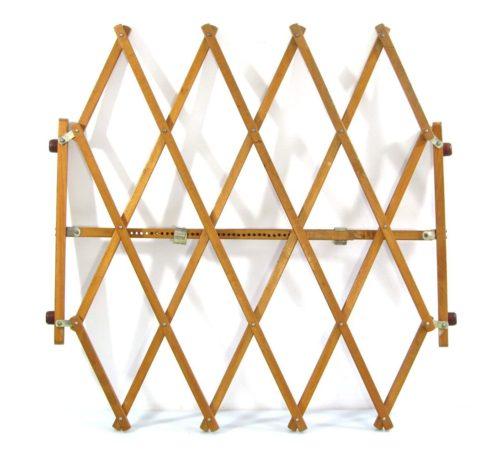 Sixties adjustable wooden vintage pet gate
