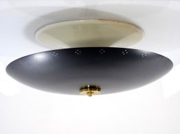 Sixties black vintage metal ceiling lamp