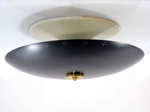 Sixties black vintage metal ceiling lamp