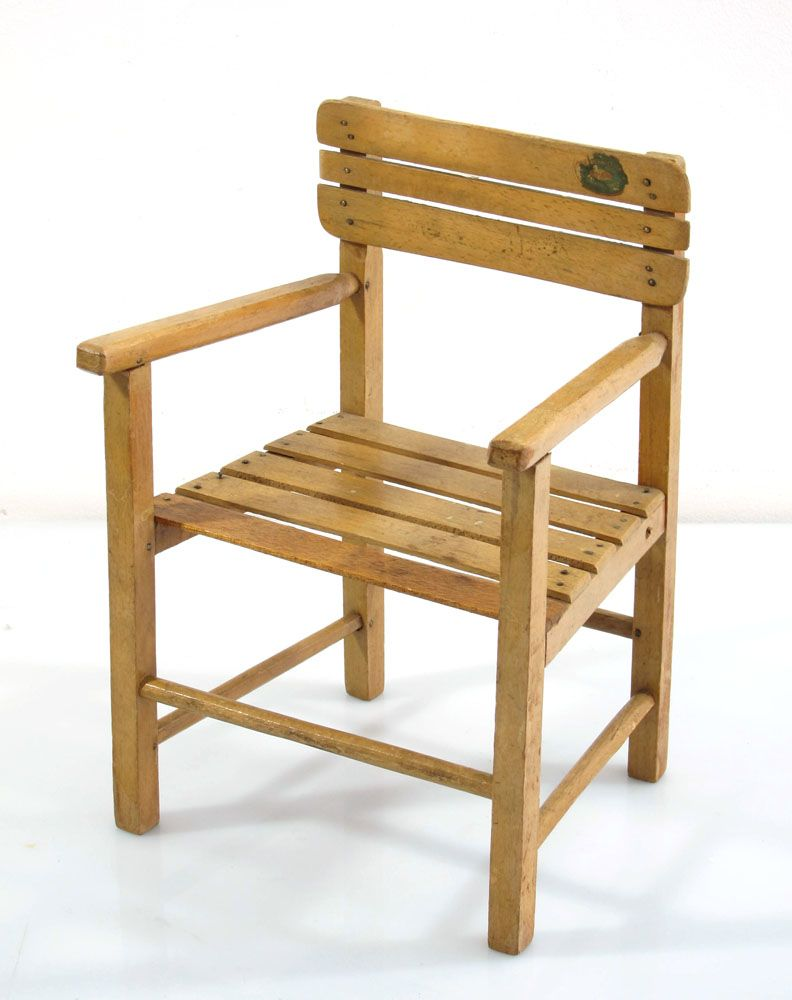 Vintage Wooden Dolls Chair Bdf