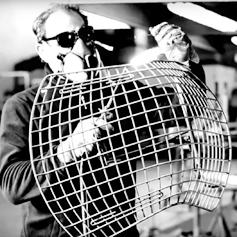 Harry Bertoia 'Diamond Chair' construction for Knoll