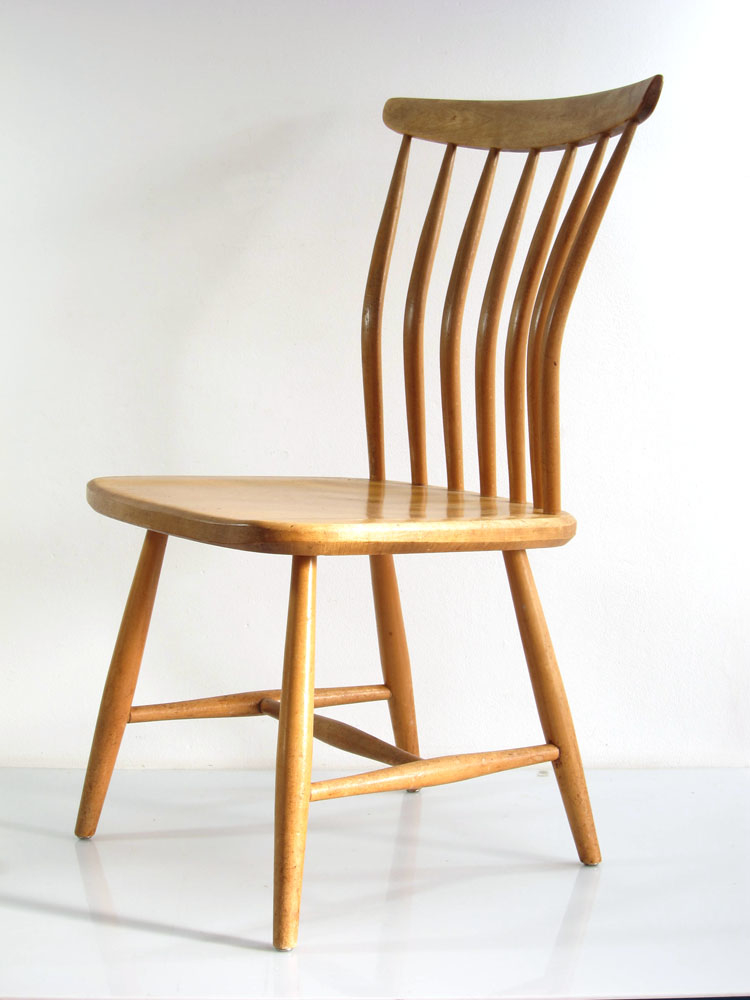 kerblom Swedish fifties chair designed by Gunnar Eklf