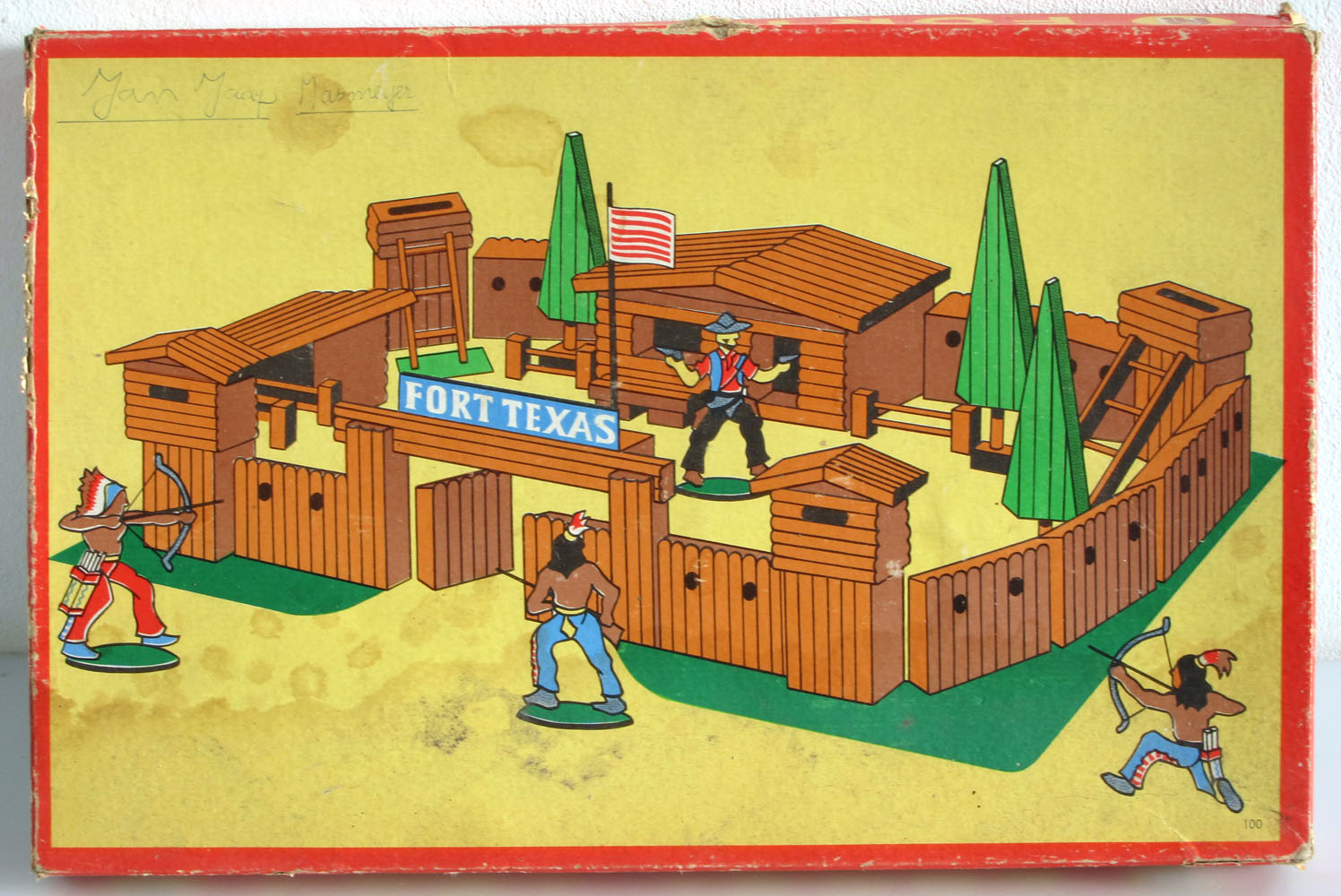 Ab Vintage Fifties Childrens Toy Fort Set Bdf