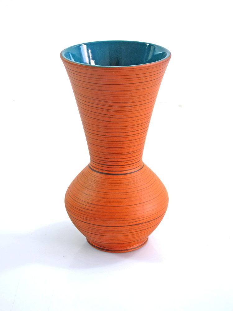 Fifties ceramic vase with vintage design