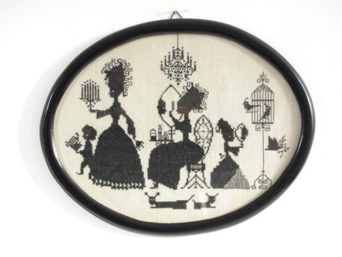 Fifties vintage embroidery artwork