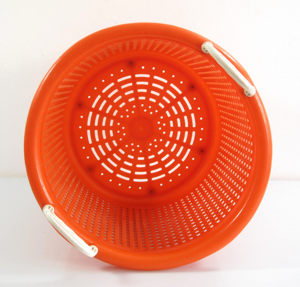 Orange Plastic Laundry Basket Sixties Vintage Eames