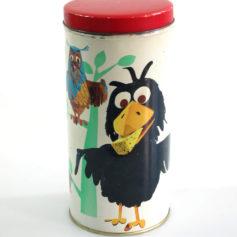 Sesame Street vintage 1969 tin can