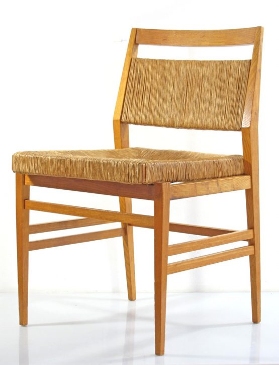 Gio Ponti style wooden chairs 60s vintage