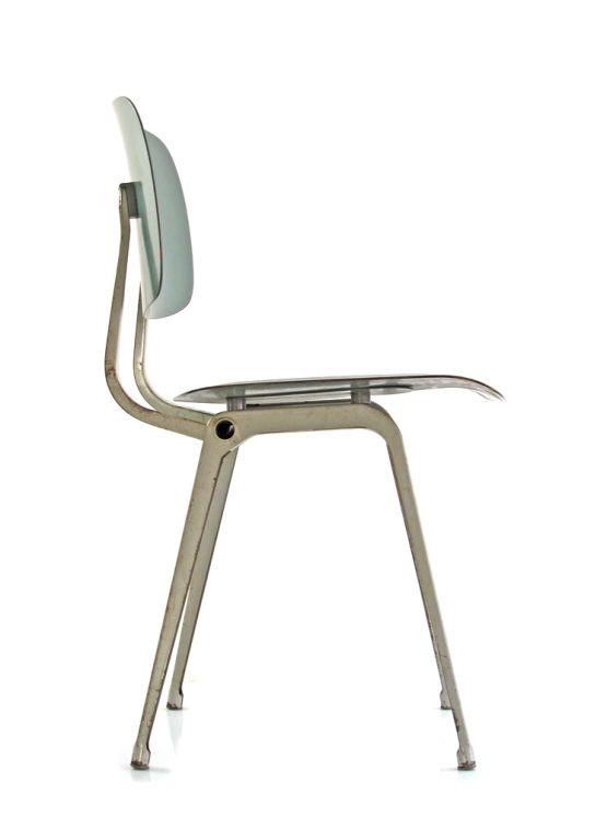 6 Friso Kramer vintage Ahrend Cirkel Revolt chairs green