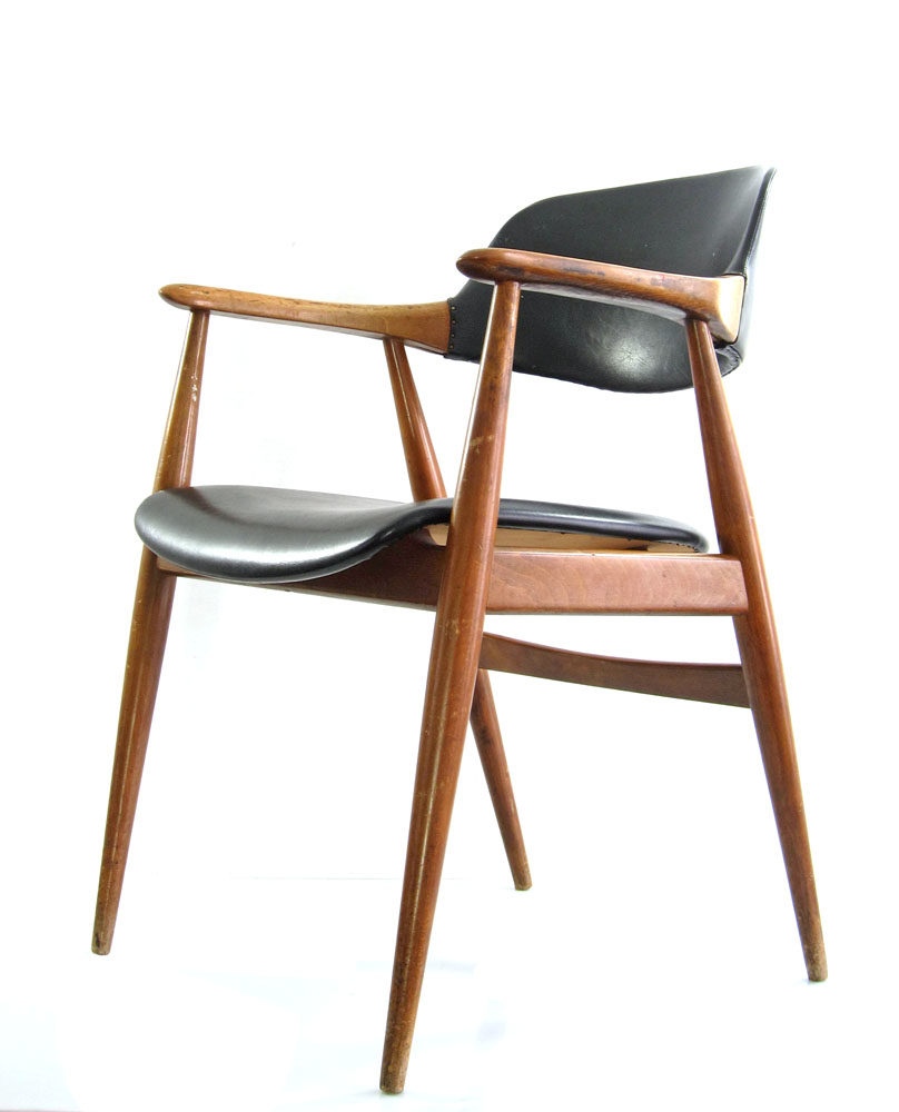 Finn juhl erik kirkegaard style vintage danish chair - Scandinavian chair ...