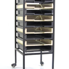 Vintage office A4 storage drawer trolley