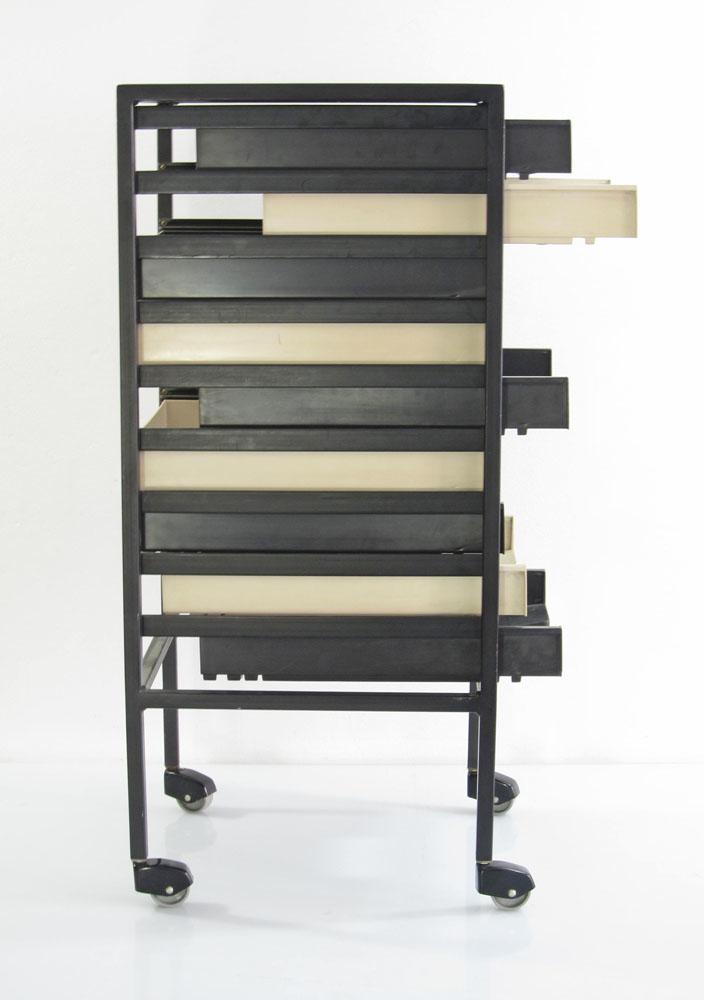 Vintage office A4 storage drawer trolley