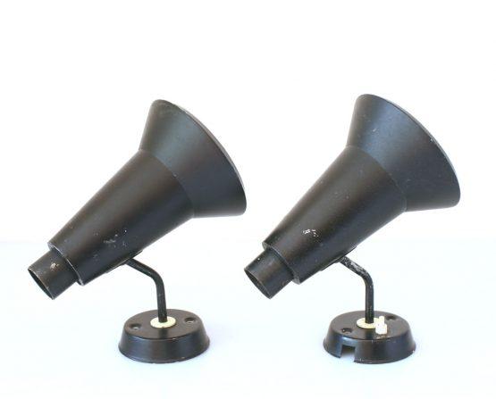 2 Philips Louis Kalff vintage retro spots lamps