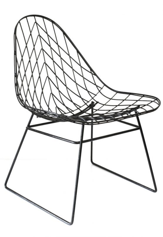 Cees Braakman metal wire sixties pastoe chair