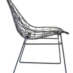 Cees Braakman metal wire sixties lounge chair