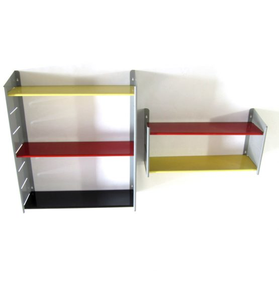 Jean Prouve, Perriand industrial style enameled metal storage unit with great colors!