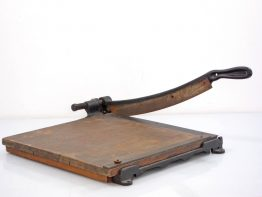 Vintage Milton Bradley cast iron paper cutter