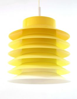 Danish vintage yellow hanging lamp