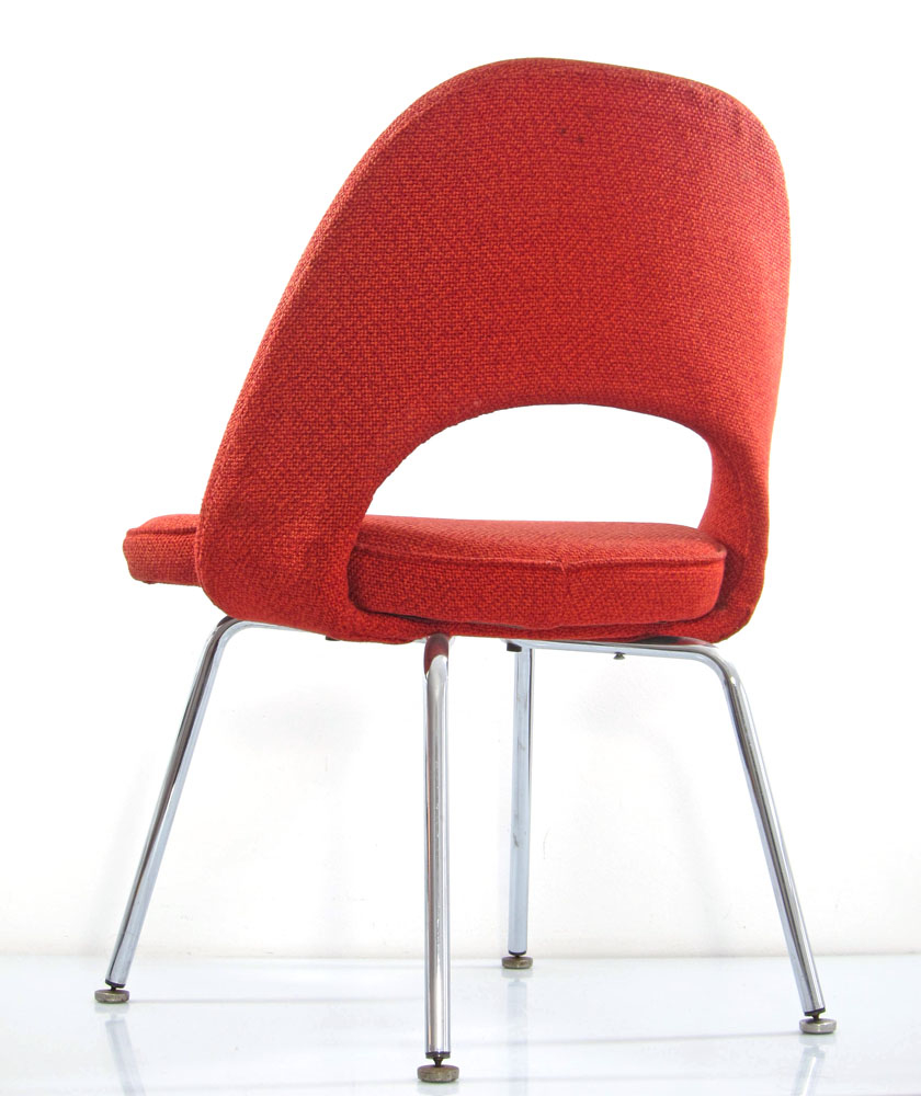 Eero saarinen chair red vintage knoll bom design furniture for Bom design furniture