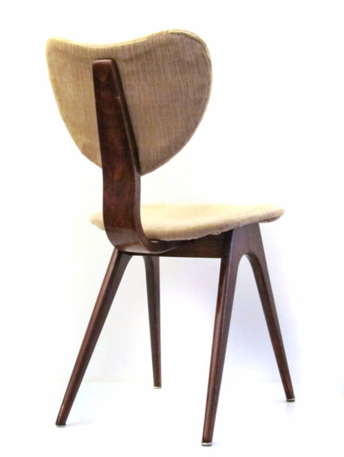 4 fifties vintage plywood dining chairs