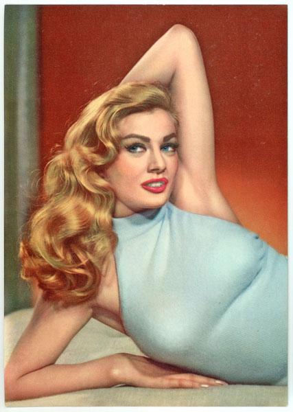 Anita Ekberg fifties sixties vintage postcard.
