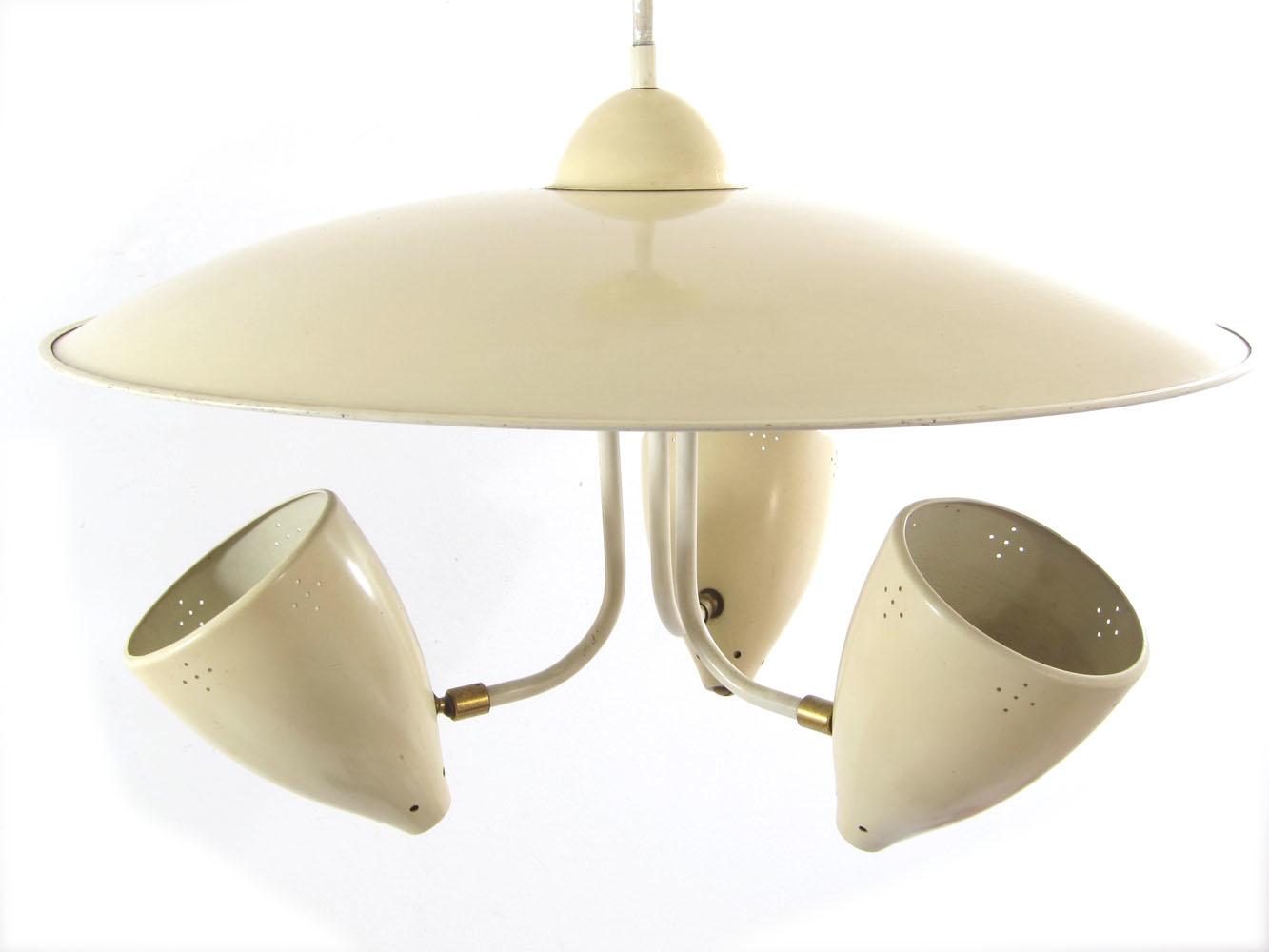 H. Busquet sixties vintage retro hanging lamp