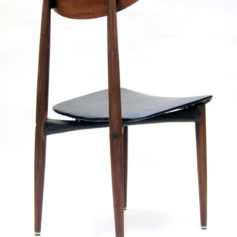 Sixties retro scandinavian wood and metal chair