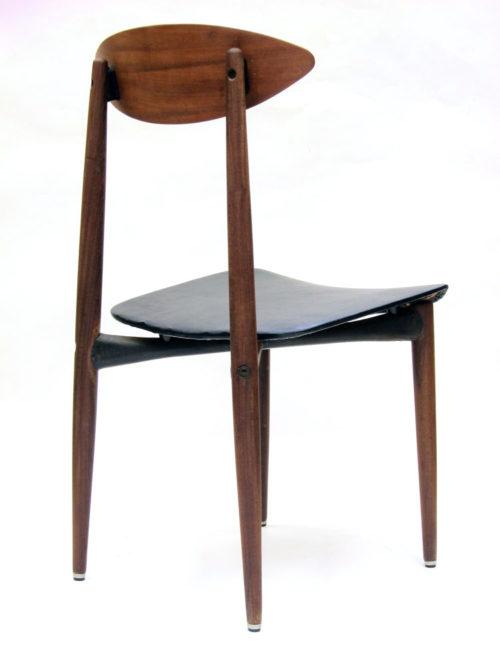 Sixties retro scandinavian wood and metal chair