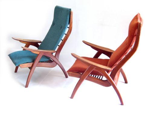 Danish chairs organic fifties relax chairs
