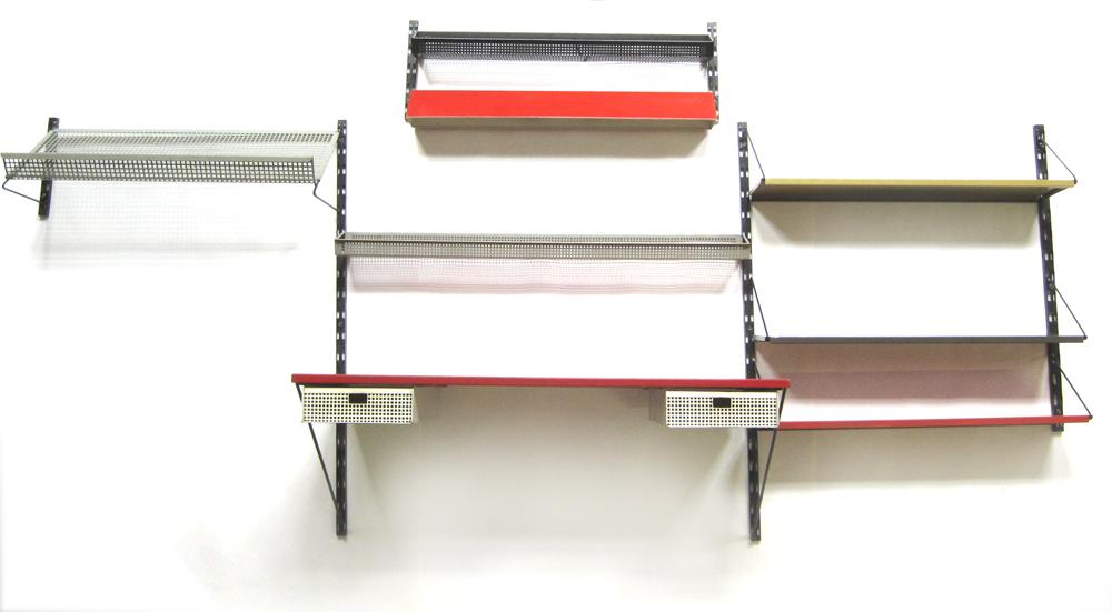 Tjerk Rijenga Pilastro wall unit with desk and light Sold