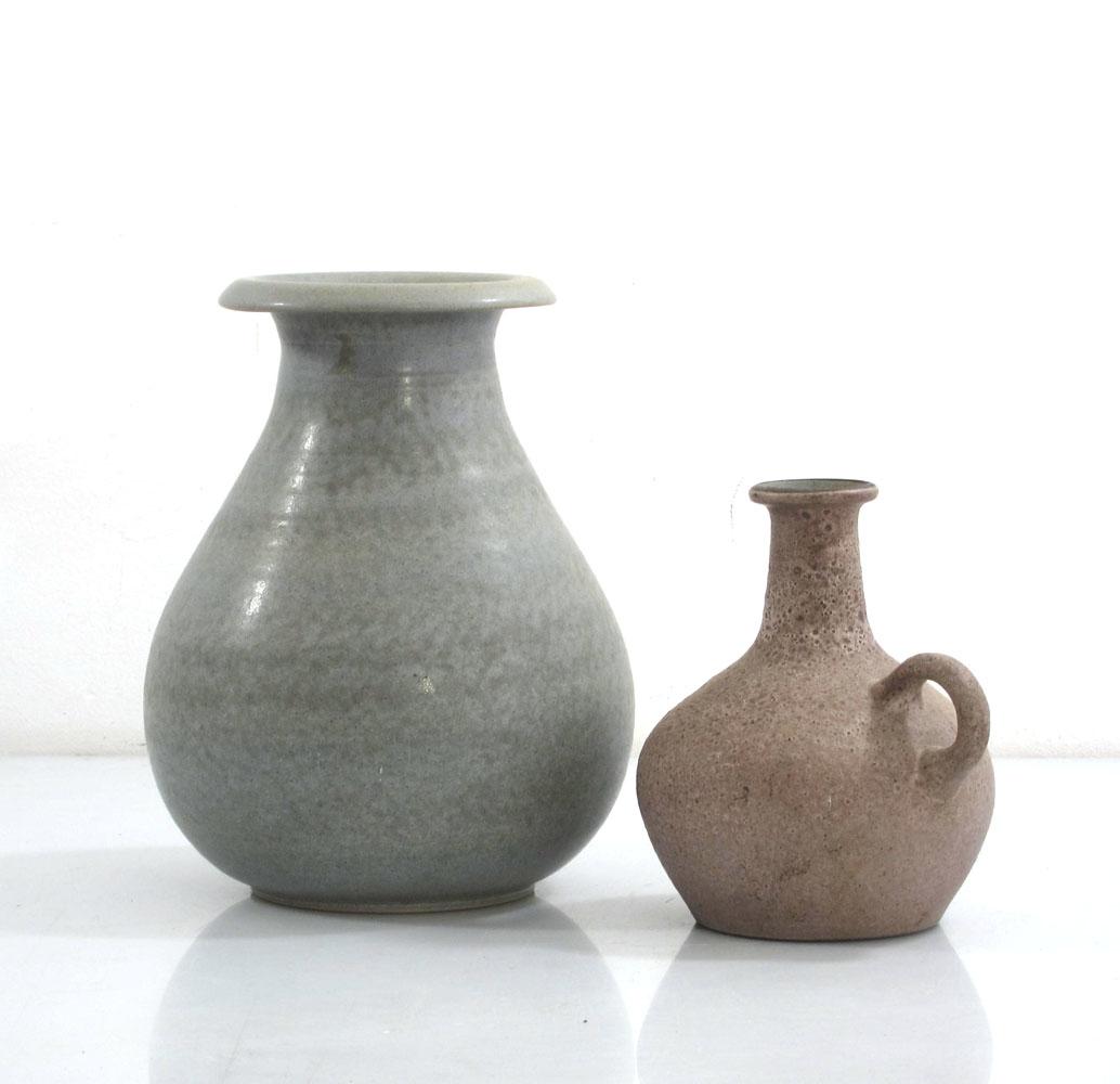 Ceramic vases vintage fifties studio pottery