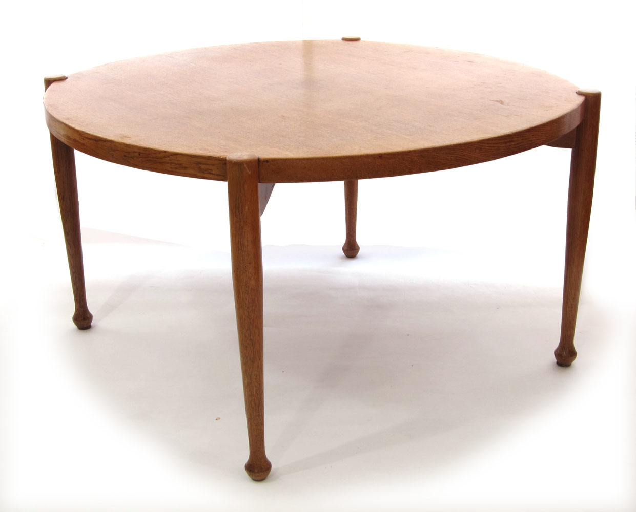 Danish Scandinavian Vintage Design Oak Coffee Table