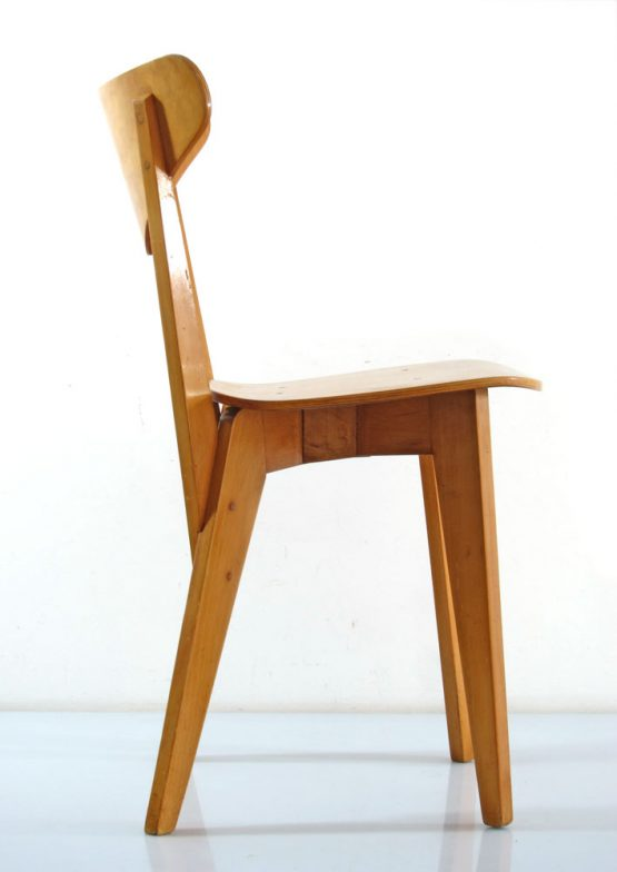 Hein Stolle forties plywood birch chairs from 1948