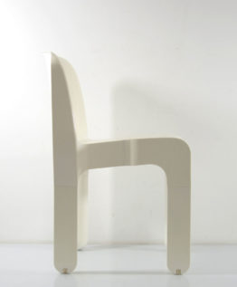 Joe Colombo 4867 plastic vintage white chair for Kartell