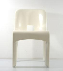 Joe Colombo 4867 plastic vintage white chair for Kartell-6