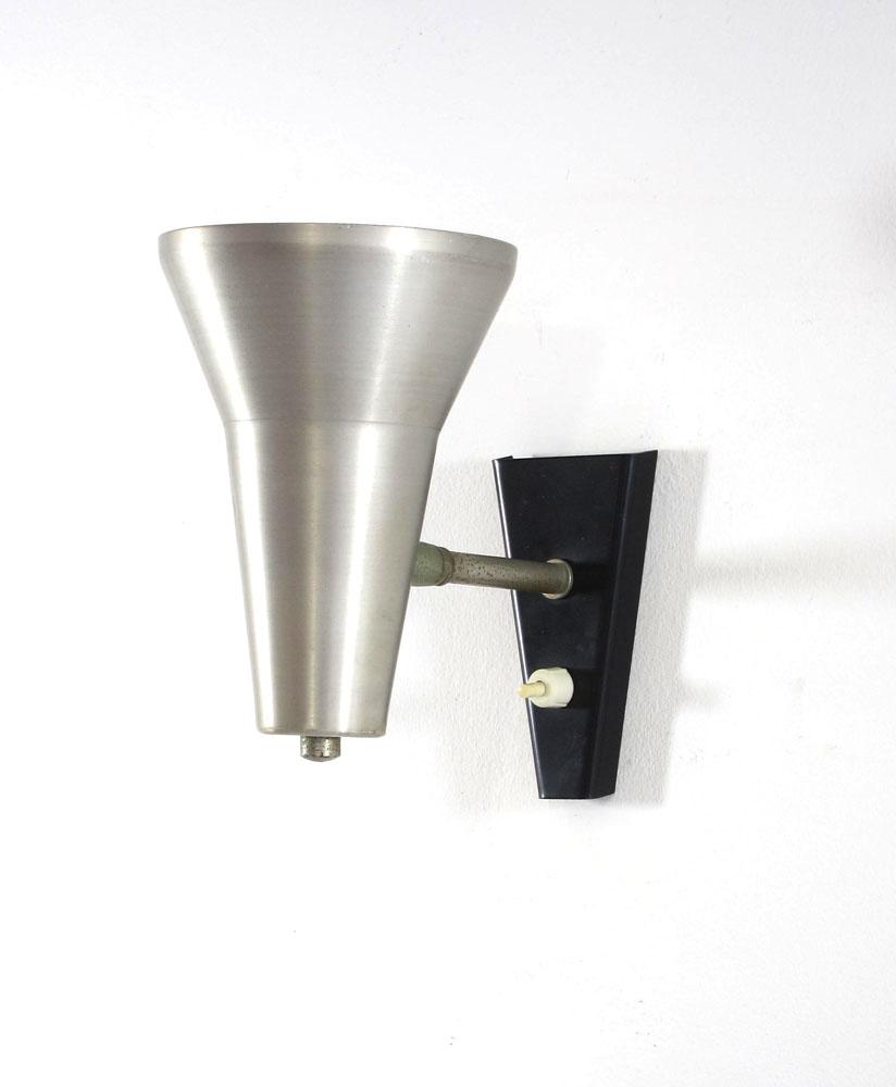 Aluminium lamp retro 1950s Dutch Design