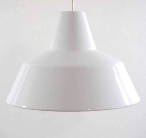 Arne Jacobsen light vintage white enamel hanging