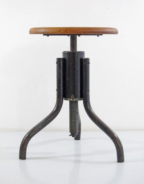 Industrial Bauhaus stool adjustable 1930s