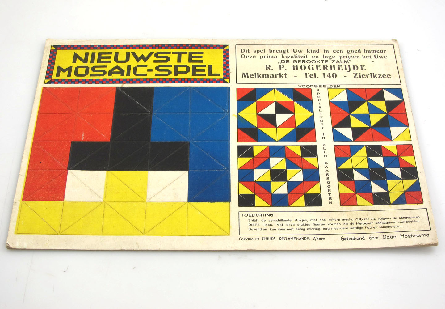 De Stijl style 1920s Mosaic game