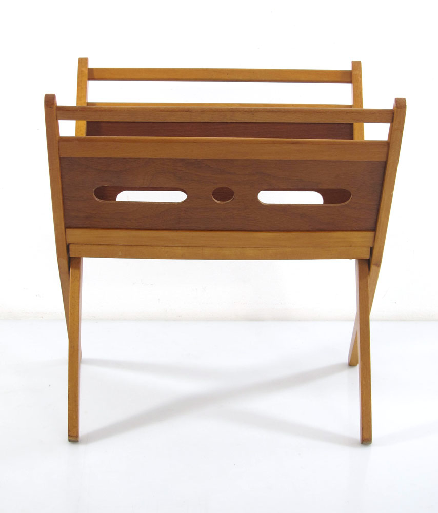 Pastoe magazine rack cees braakman fifties bom design for Bom design furniture