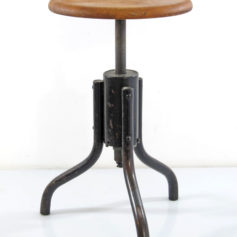 Industrial Bauhaus stool adjustable 1930s