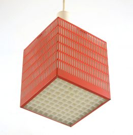 Mathieu Mategot style fifties metal pendant