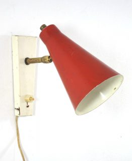 Red spot fifties adjustable lamp