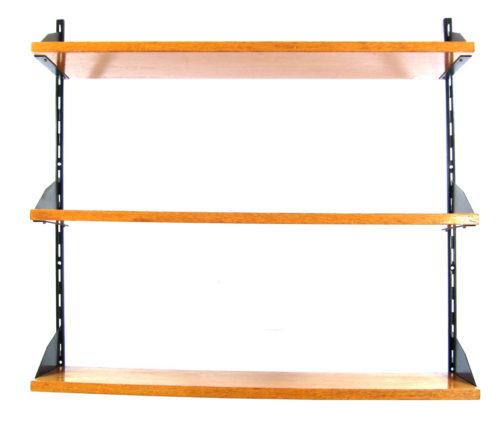 Sixties shelf vintage wooden wall unit